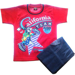 Red Kidswear for Boy.(4 year - 6 year)