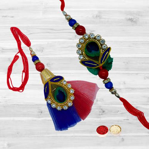 Beautifying Bhaiya Bhabhi Rakhi Set with Festive Look