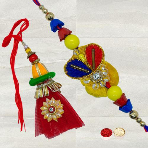 Breathtaking Bhaiya Bhabhi Rakhi Set for Sweet Surprise