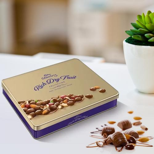 Online gift of Cadbury Celebrations Rich Dry Fruits Tin