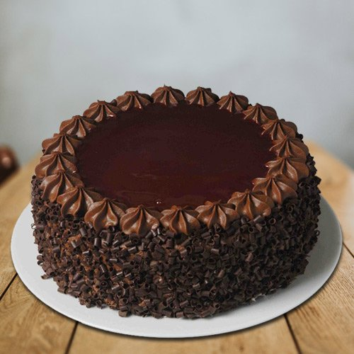 One-of-a-Kind Chocolate Quoted 1 Lb Eggless Cake from 3/4 Star Bakery