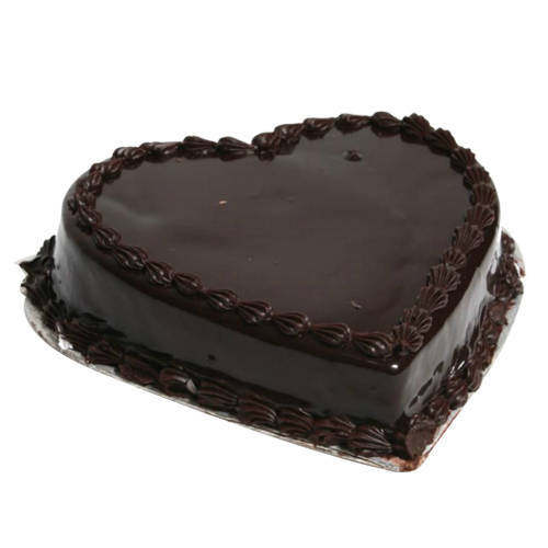 Yummy Chocolate Truffle Cake in Heart Shape