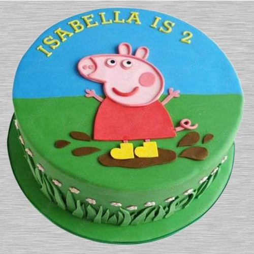 Blissful Peppa Pig Fondant Cake for Kids Party