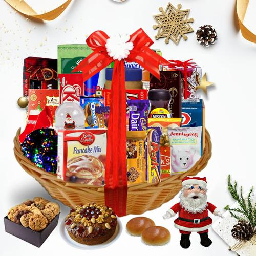 Embrace the Dazzling Season Christmas Basket<br>