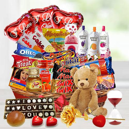 Surprising Valentine Treat Basket