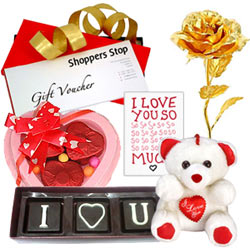 Amazing Love You Gifts Hamper with Shoppers Stop Gift Voucher