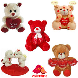 Romantic Room Full of Teddies Valentine Gift Set
