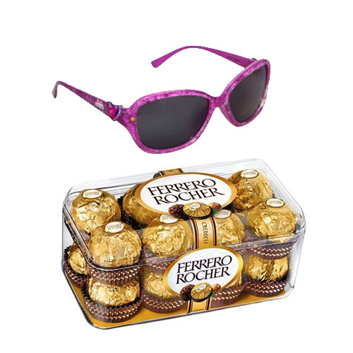 Admirable Barbie Themed Sunglasses with 16 pcs Ferrero Rocher Chocolate