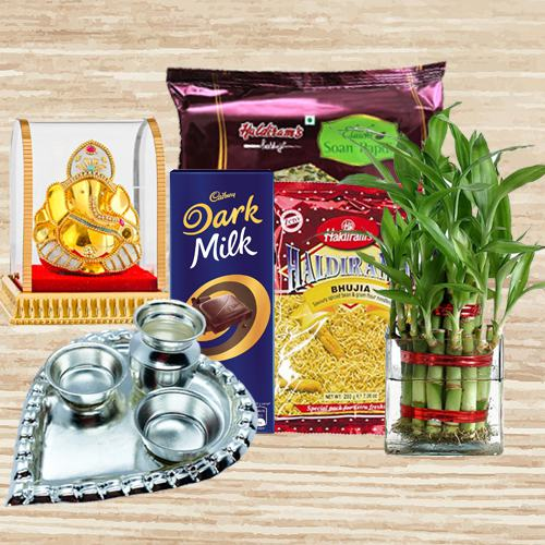 Eco Friendly Gift for Good Luck with Sweets n Chocolates