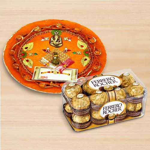 Ferrero Rocher with Pooja Thali