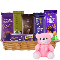 Gift Hamper of Chocolates  N  Teddy