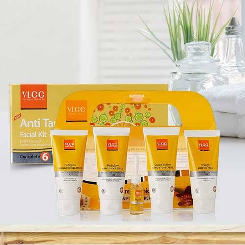 Amazing Gift of VLCC Pedicure and Manicure Kit with VLCC Anti Tan Facial Kit