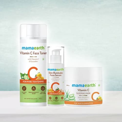Pretty Look with Mama Earth Night Regime Skin Care Combo