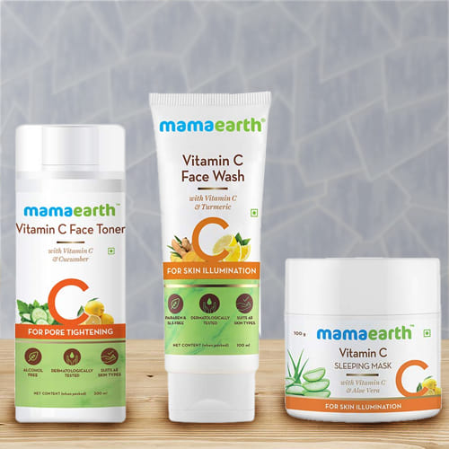 Look Beautiful with Mama Earth Overnight Skin Glow Combo