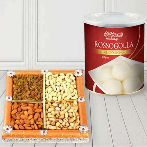 Haldirams Rasgulla with Assorted Dry Fruits Combo