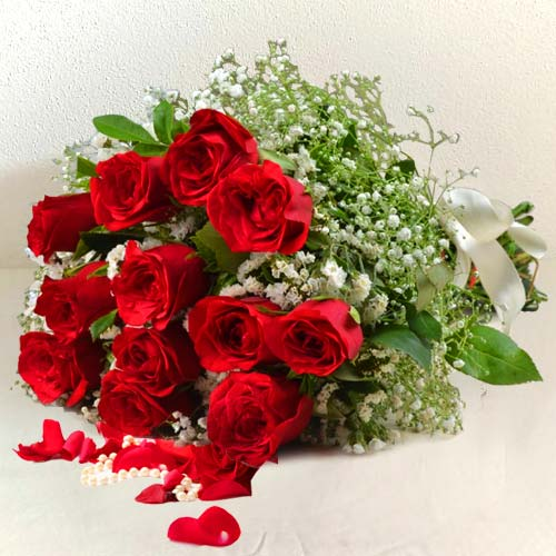 12 Red Rose Bouquet