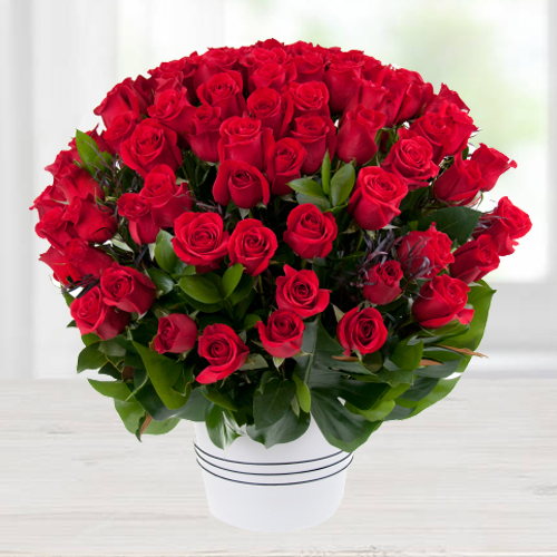 Gift of Dutch Roses Arrangement
