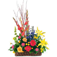 Enchanting Mixed Flowers Arrangement of Love and Happiness