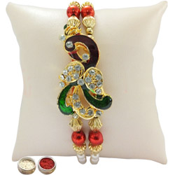 Wonderful Rakhi with Elegant Kundan