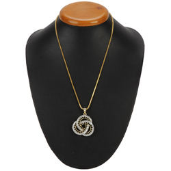 Blush-of-Feeling Chiaroscuro Diamond Pendant with Chain