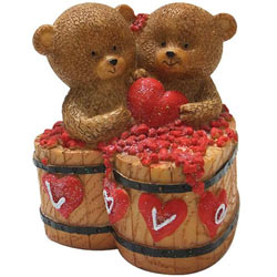 Lovely Couple Teddy with a Heart