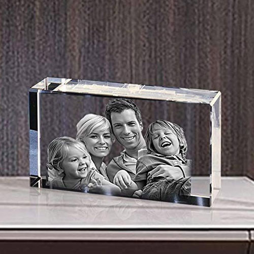Beautiful Personalized Rectangular Glass Paper Weight