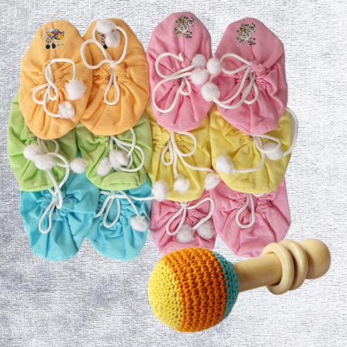 Remarkable Set of Bootie N Rattle Toy