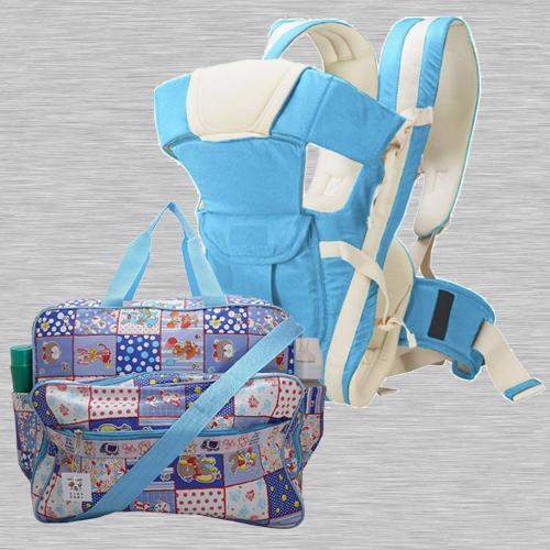 Wonderful Compartment Bag N Baby Carrier Cum Kangaroo Bag<br><br>