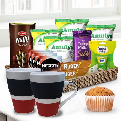 Sumptuous Coffee N Chocolate Break Gift Basket <br>
