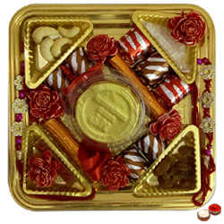 Yummy Distinctiveness Rakhi Chocolate Thali