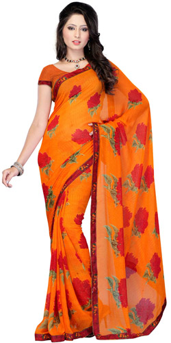 Yielding Endearment Georgette Saree