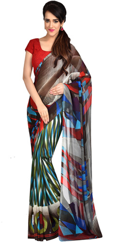 Zesty Dani Georgette Printed Saree
