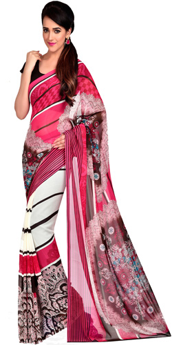 Soothing Fancy Dani Georgette Saree