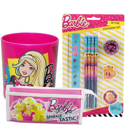 Beautiful Barbie Designed Stationery Set for Little Princess