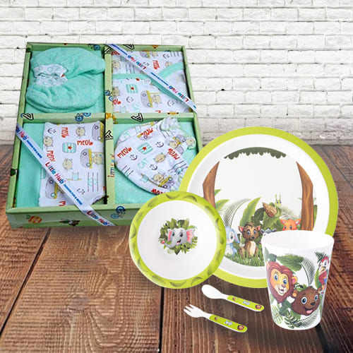 Exclusive New Born Clothing n Kids Feeding Set