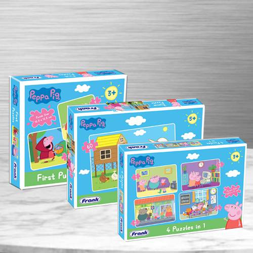 Exclusive Trio Peppa Pig Puzzles Set for Kids