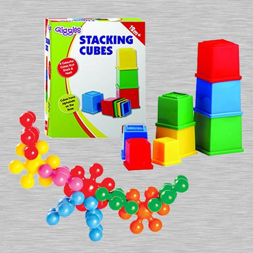 Wonderful Funskool Kiddy Star Links n Giggles Stacking Cubes