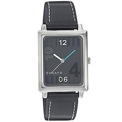 Square dial in black combination with style for gents from Titan Sonata