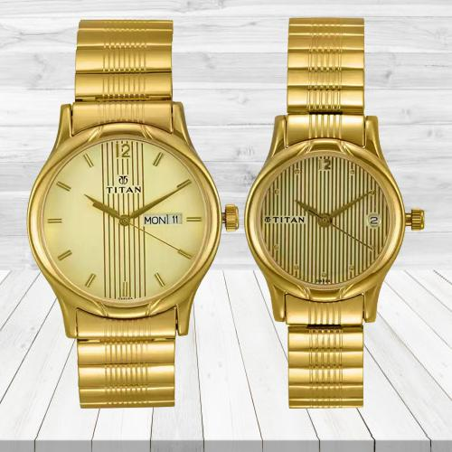 Exclusive Titan Bandhan Analog Watch for Couple
